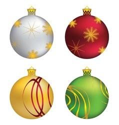 Decorative christmas balls vector