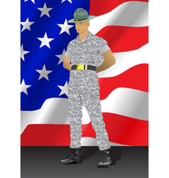 drill instructor vector image vector image