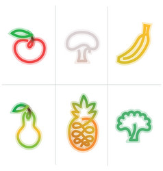Fruits icon vector