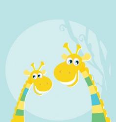 giraffes in jungle vector image