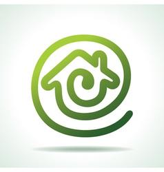 green Home make a message icon vector image vector image