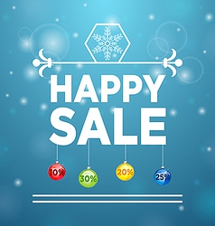 Happy Sale and Christmas Ball vector image