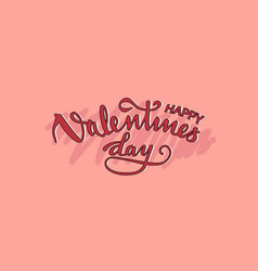 happy valentines on pink background vector image vector image