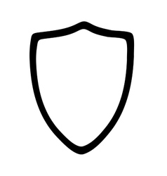 Hiqh quality shield pictogram icon for web design vector image