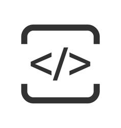 Html flat icon vector