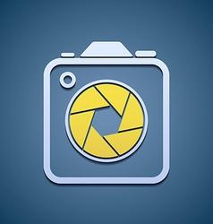 Icon aperture camera vector image