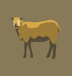 in flat style sheep vector image