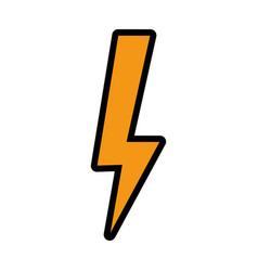 Isolated thunder icon vector