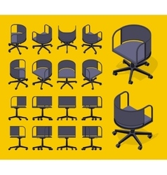 Isometric office spinning chairs vector image vector image