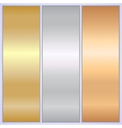 Metallic texture banner templates vector