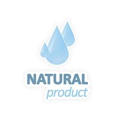 Natural product water drops vector