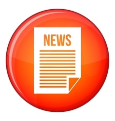 News newspaper icon flat style vector