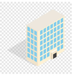 Office building isometric icon vector