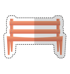 park chair isolated icon vector image vector image