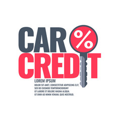 Poster an car loan vector