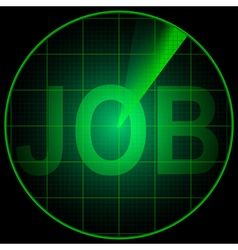Radar screen with the word Job vector image vector image