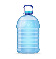 Realistic large bottle with clean blue water vector