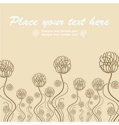Retro floral vintage vector image vector image