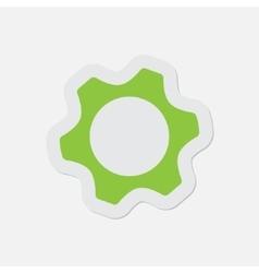 simple green icon - cogwheel vector image vector image