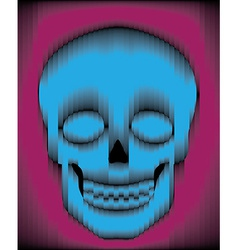 Sliced gradient skull vector