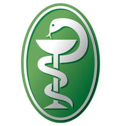 snake-medical symbol vector image vector image