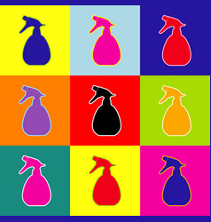 Spray bottle for cleaning sign pop-art vector