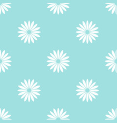 White flowers on blue background seamless pattern vector