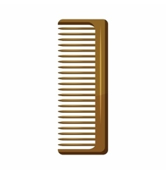 Wooden hairbrush icon cartoon style vector