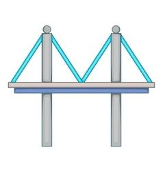 Bridge with iron supports icon cartoon style vector