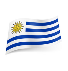 National flag of uruguay white and blue vector