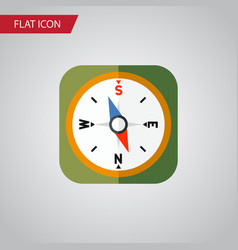 Isolated geography flat icon instrument vector