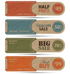Sale Tags Design vector image