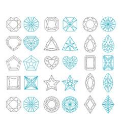 diamond shapes set vector image
