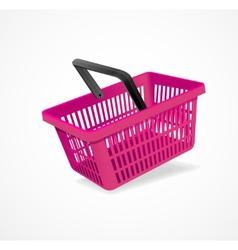 shopping basket pink vector image