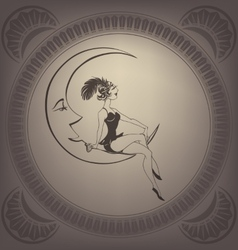 Young woman perform a circus stunt flappers vector