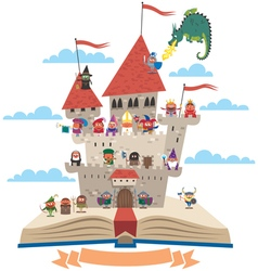 Fairy tale book vector