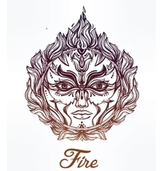 Beautiful romantic fire spirit symbol vector