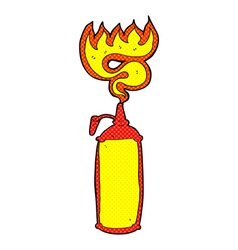 Comic cartoon hot sauce vector