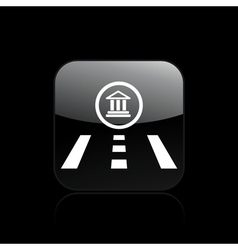 Temple direction icon vector