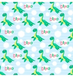 Water dinosaur seamless pattern vector