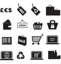 retail icon silhouette vector image