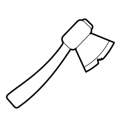 Axe icon outline style vector image vector image