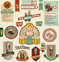 Beer design elements vector