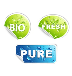 Bio stickers set vector