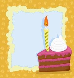 Cartoon Birthday cake card vector image vector image