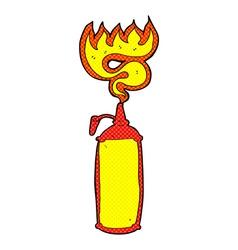 Comic cartoon hot sauce vector