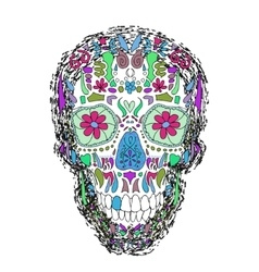 Day of the dead skull on a background vector