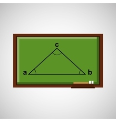 Education concept blackboard with triangle angule vector