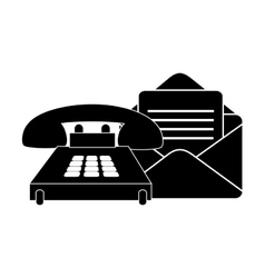 Envelope mail and telephone vector
