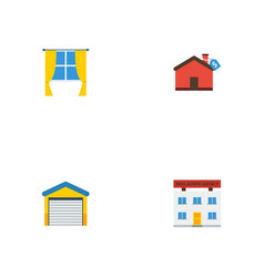 Flat icons real estate depot hypothec and other vector